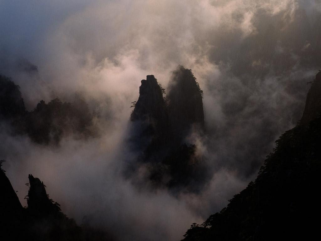 風景桌布下載 - 雲霧山水